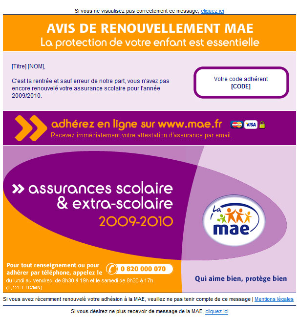 Lettre d'informations adherents