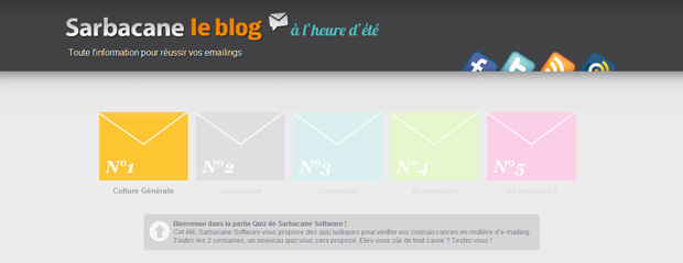 Quiz N°2 : Vocabulaire de l'emailing