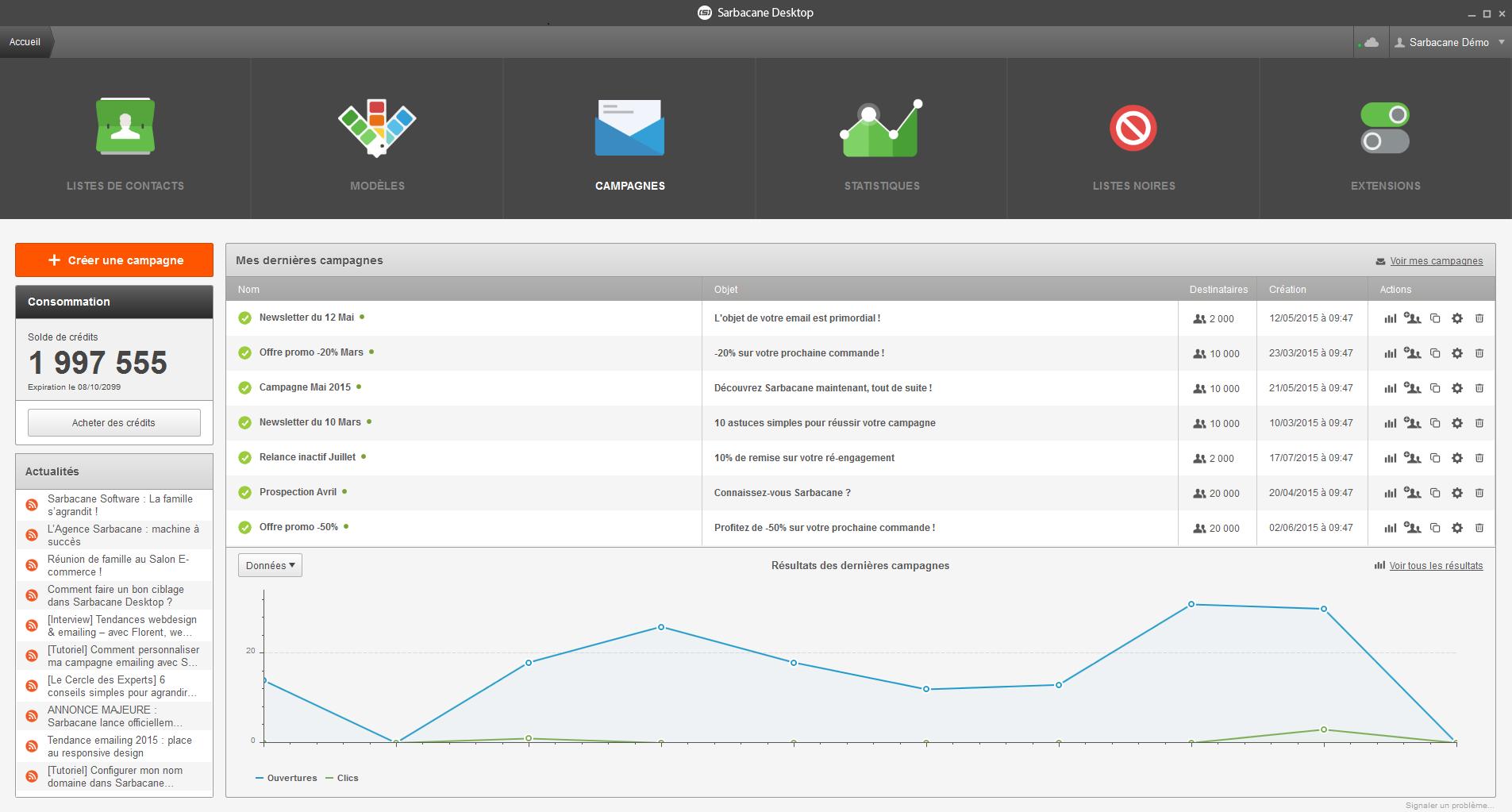 faire une newsletter avec Sarbacane Desktop