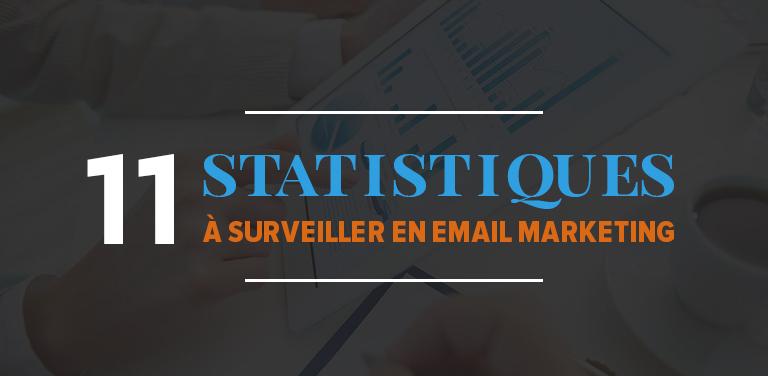 Les 11 statistiques à surveiller en email marketing et leur intérêt pour votre stratégie