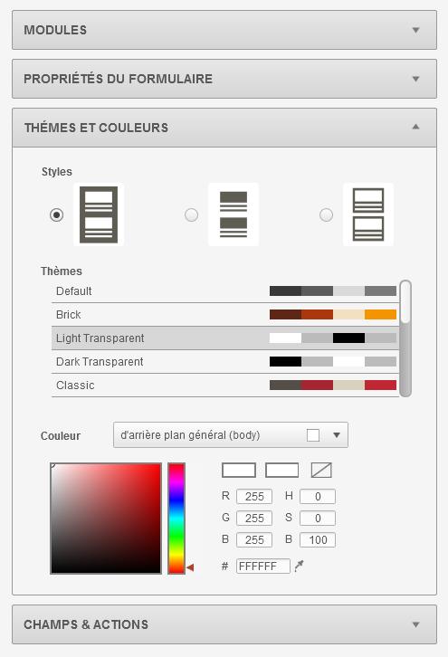 themes et couleurs