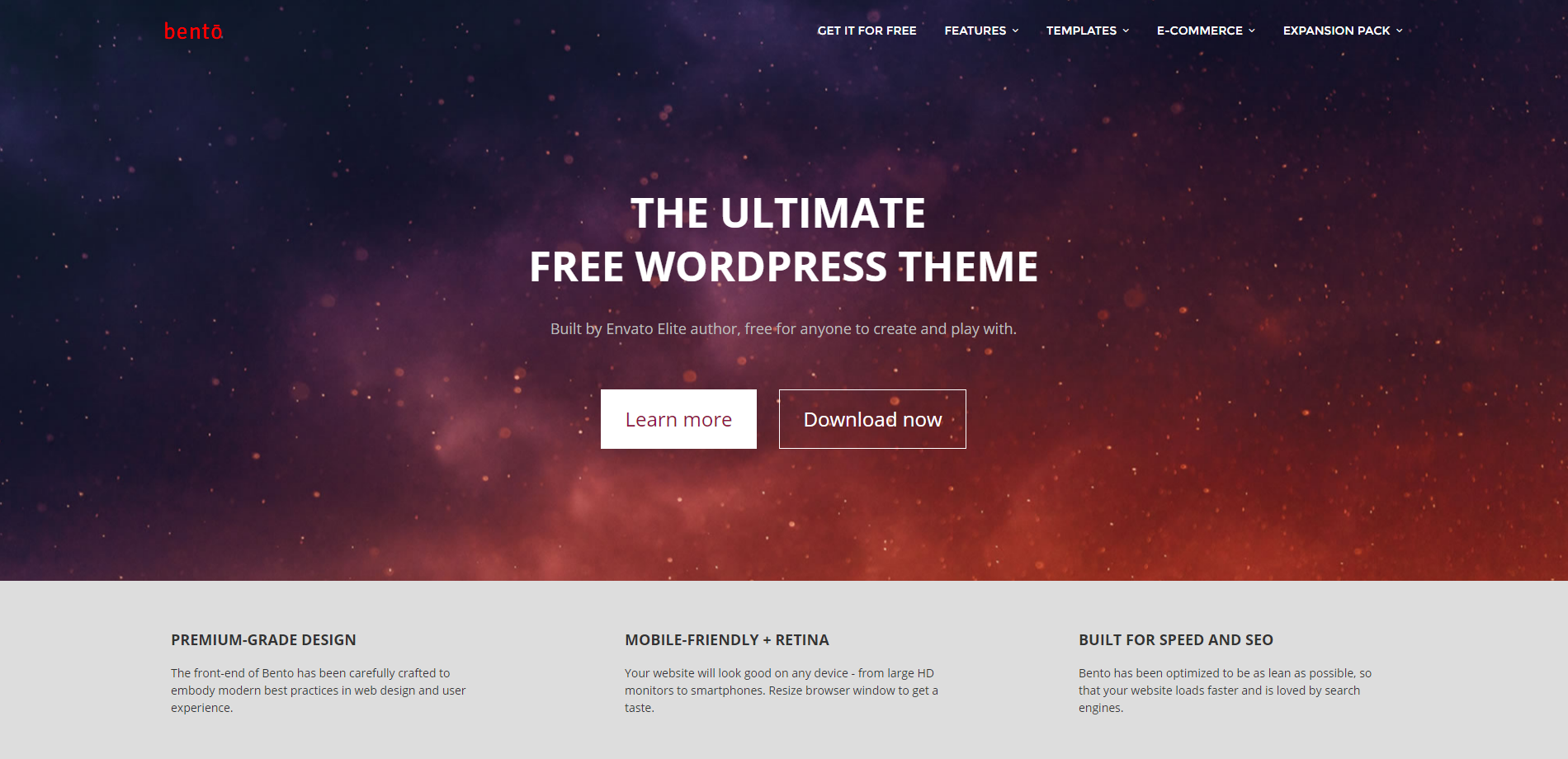 theme wordpress gratuit bento