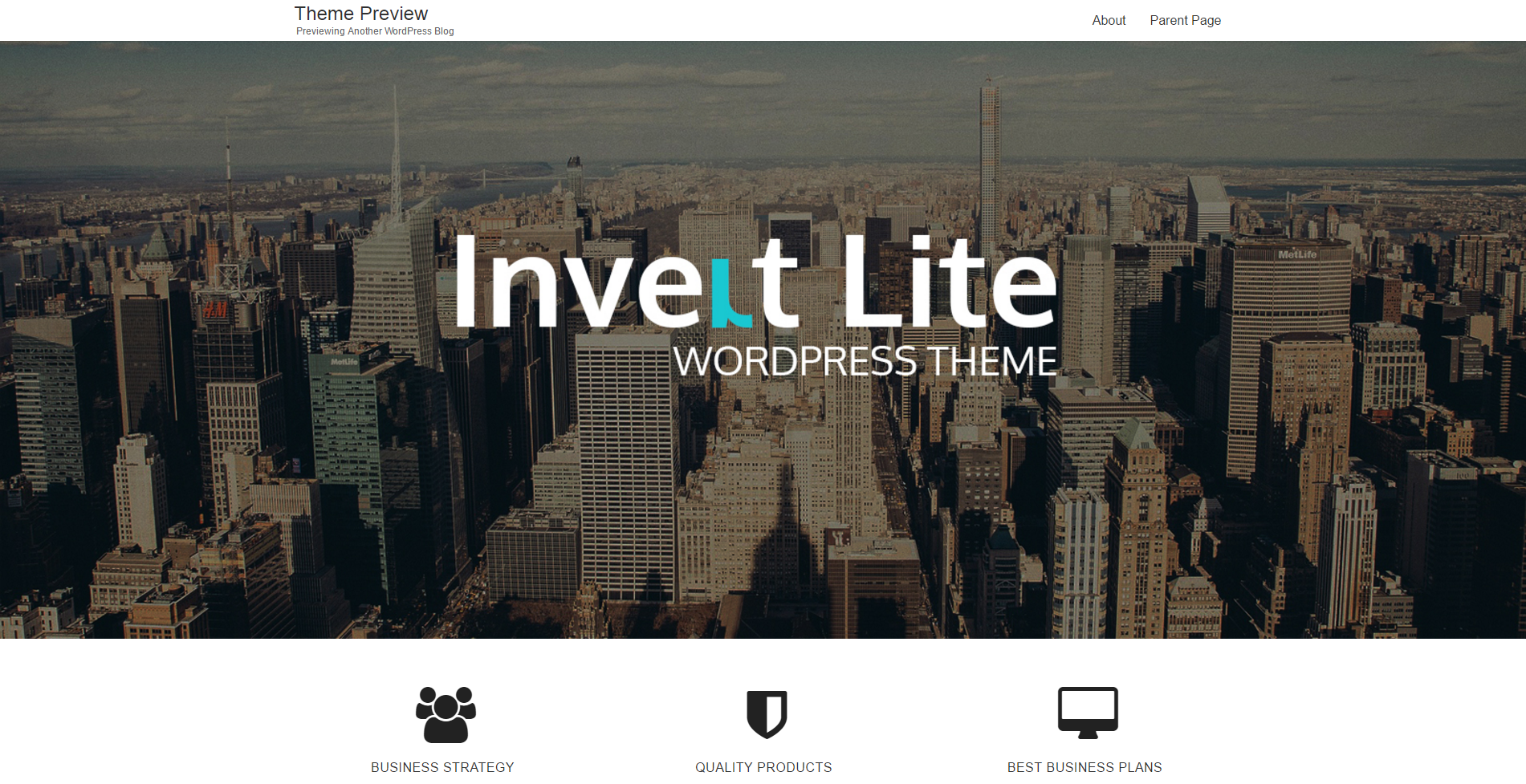 theme wordpress gratuit invert lite