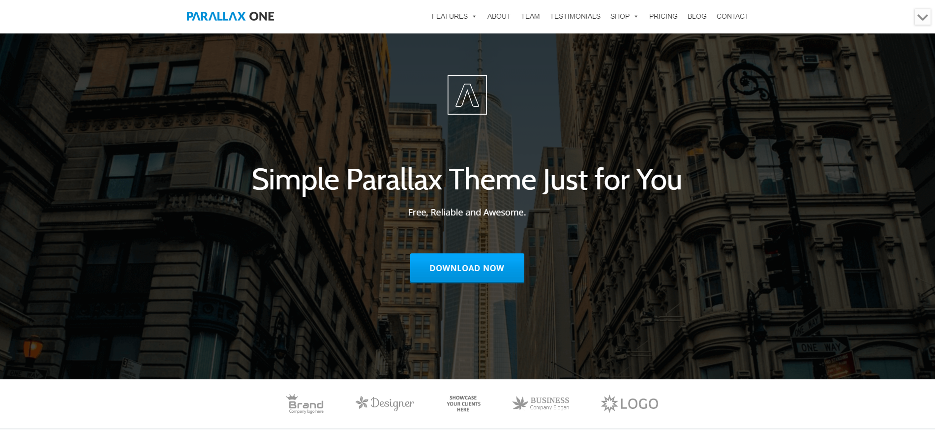theme wordpress gratuit parallax