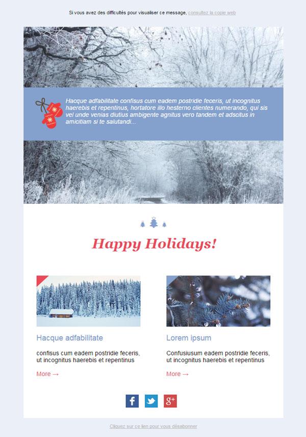 christmas template newsletter