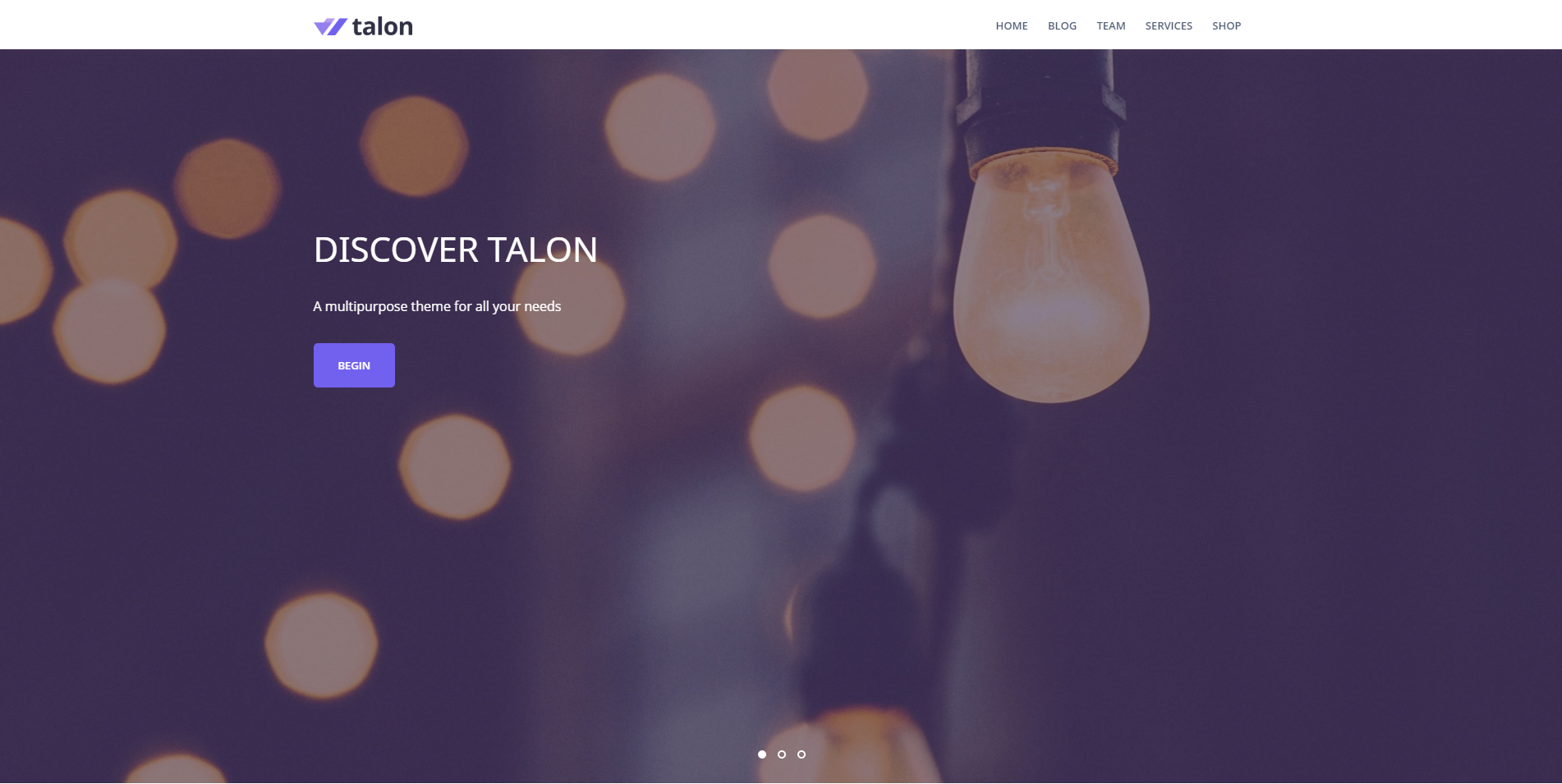 theme wordpress gratuit talon