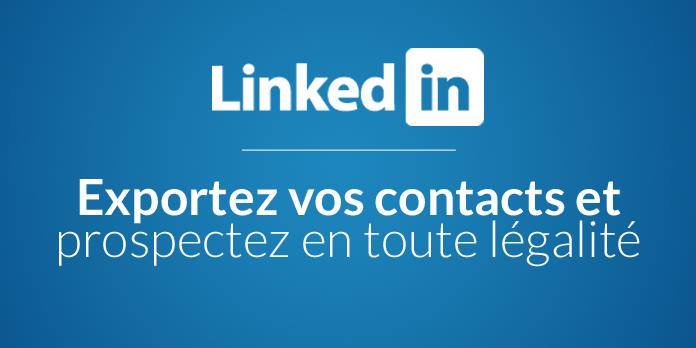 exporter ses contacts linkedin