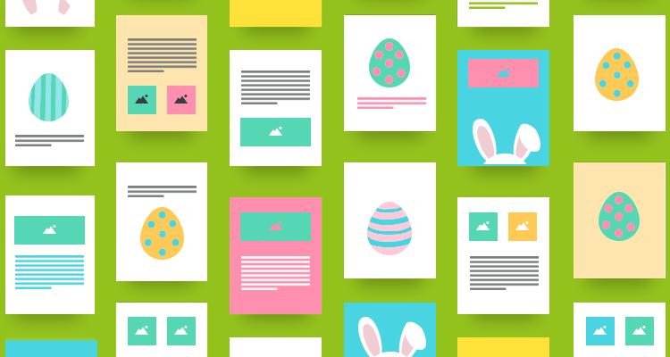 Préparez votre template de newsletter pour Pâques dès maintenant!