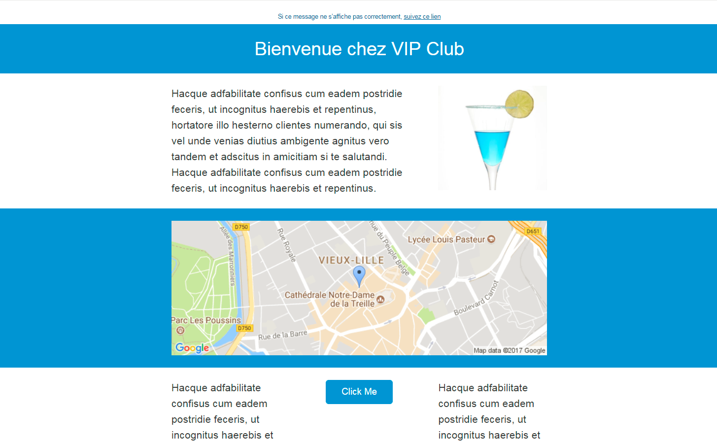 Mise en forme automatique email marketing