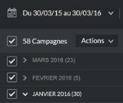Filtre de campagne par mois