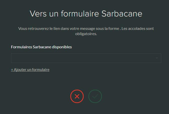 Lien vers un formulaire Sarbacane