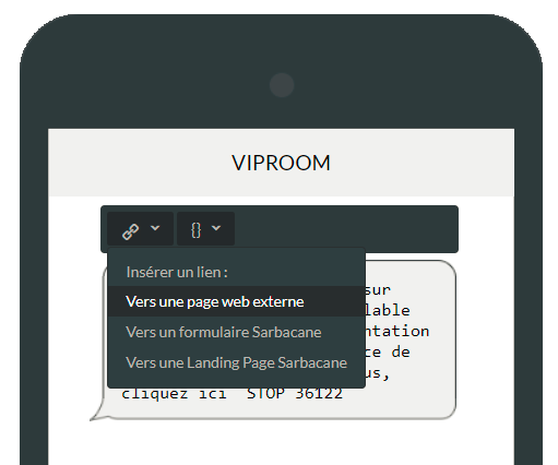 Lien SMS vers page Web