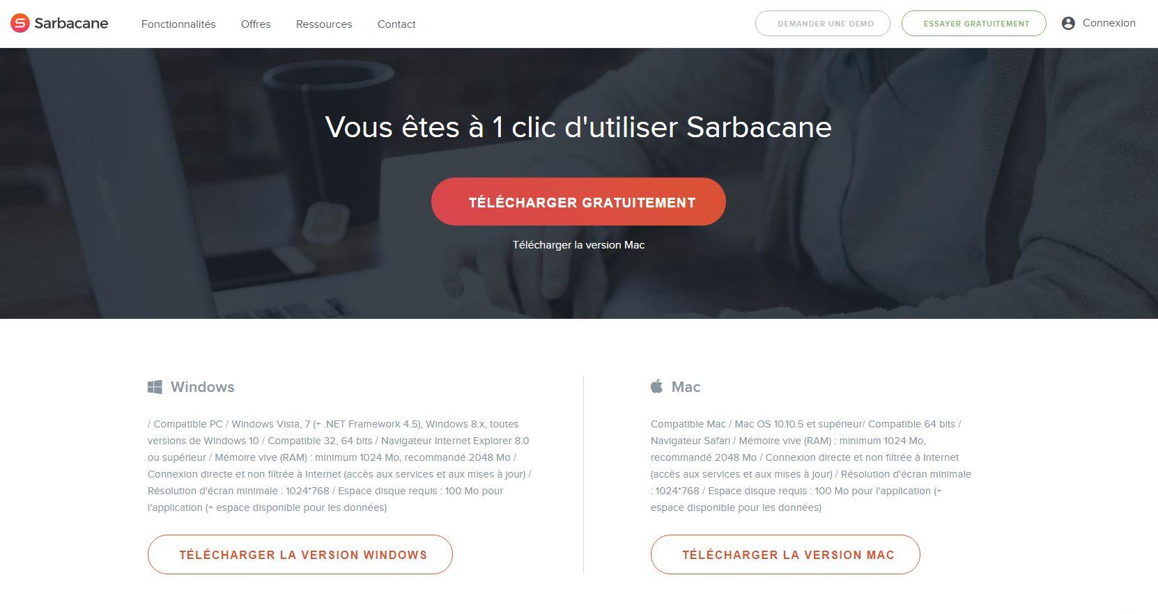Télécharger le logiciel Sarbacane Sunrise