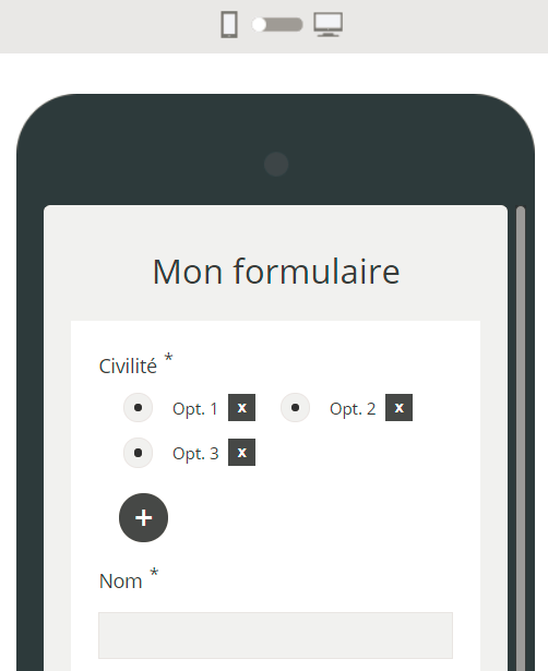 Form builder responsive design