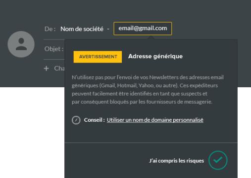 adresse d'expédition générique emailing