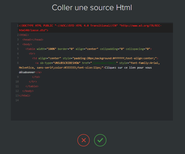 copier coller email html