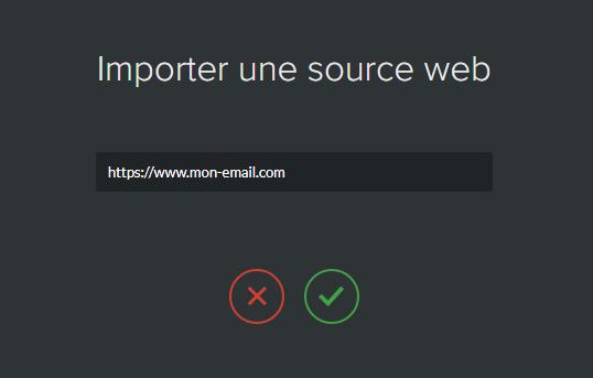 import emailing url