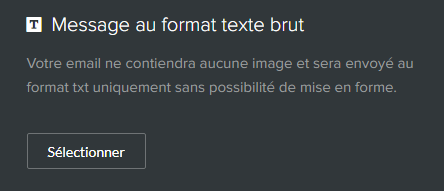 emailing texte brut