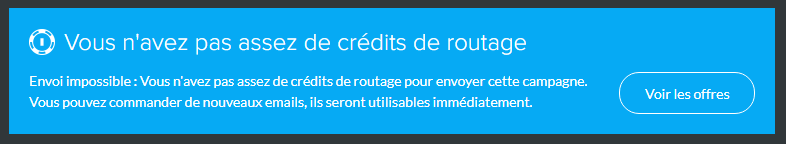 credits emails routage