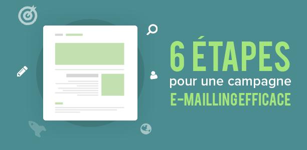 6 étapes pour une campagne e-mailing efficace