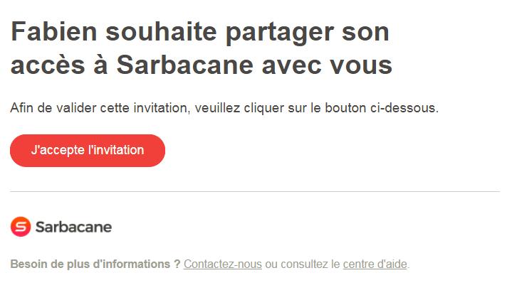 Accepter une invitation Sarbacane