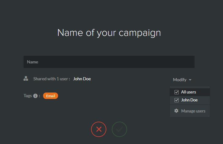 partage campagne utilisateurs