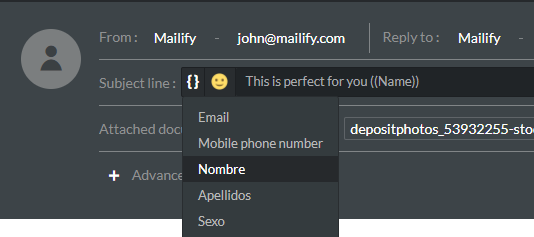 personnalisation objet emailing