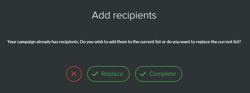 Compléter ou remplacer une liste de contacts