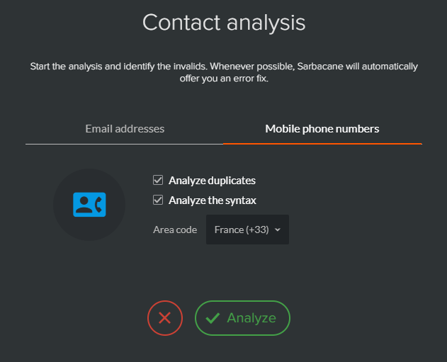 Analyse et correction des numéros de téléphone portables invalides