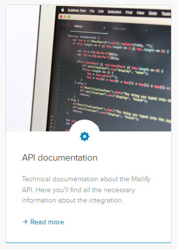 Documentation API Sarbacane