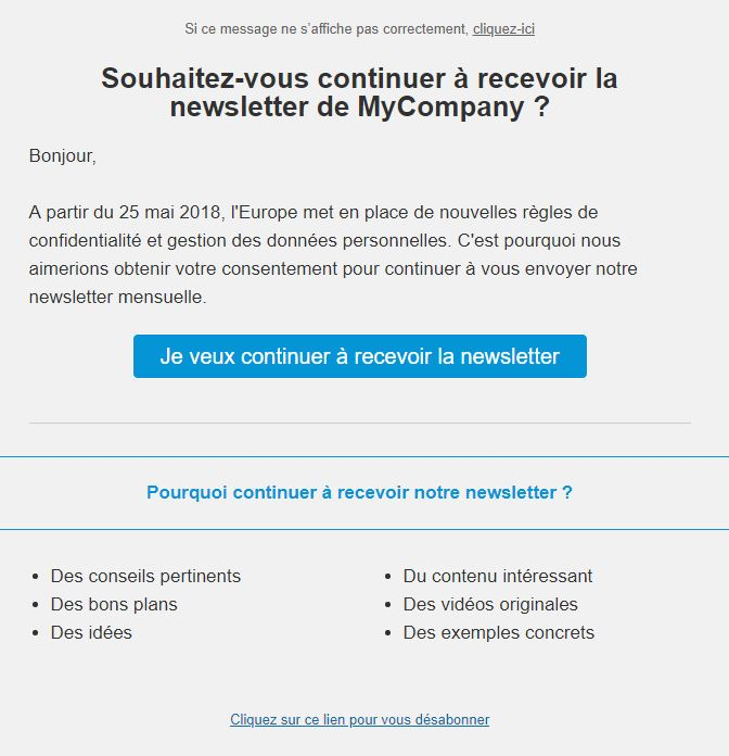 Rgpd Emailing Obtenir Le Consentement De Ses Contacts