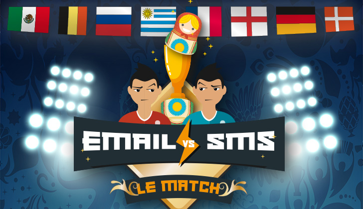 [Infographie] EMAIL vs SMS : le MATCH !