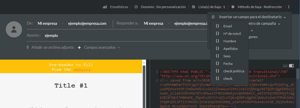 personnalisation éditeur html