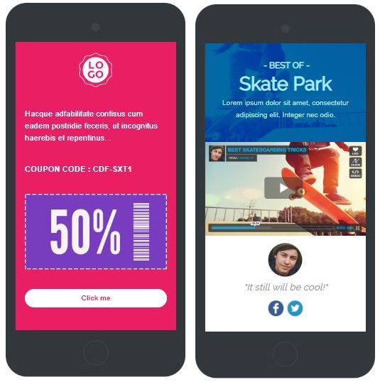 sms landing page templates