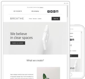 template newsletter breathe