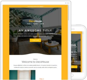template newsletter decohouse