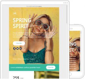 template newsletter vspring