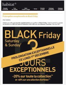 Prolongation Black Friday