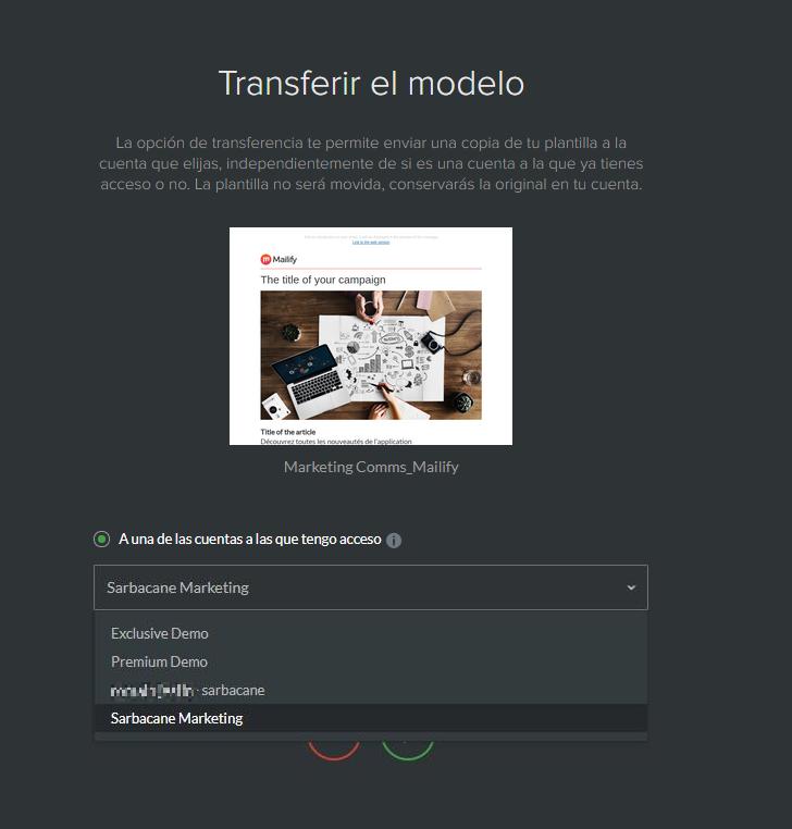 Transferir un modelo