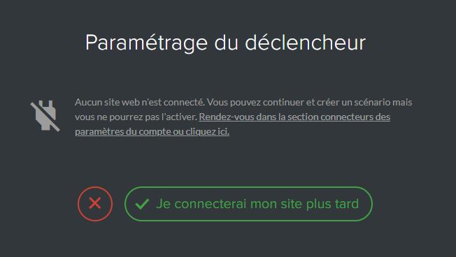 Site non connecté