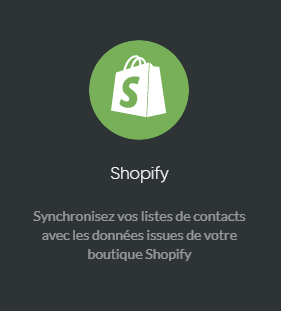 Connecteur Shopify