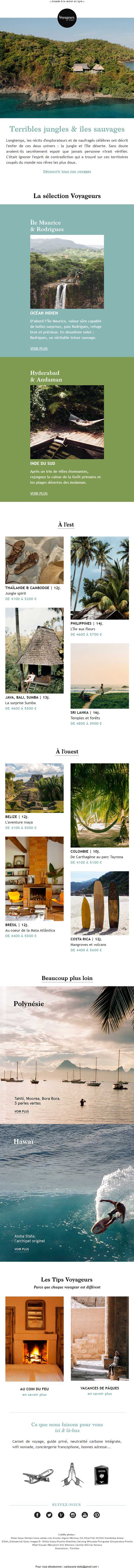 Newsletter voyageurs du monde