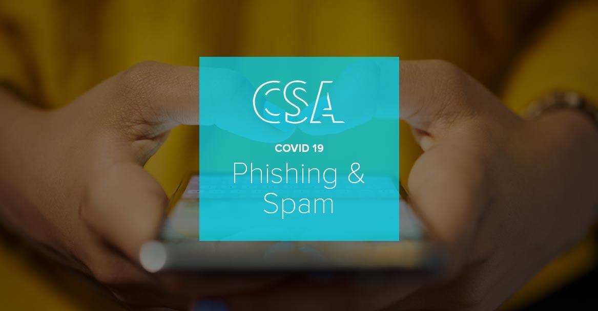 Coronavirus : le CSA met en garde les entreprises contre le phishing et le spam