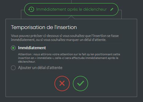 Temporisation insertion