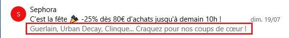 Pré-header email