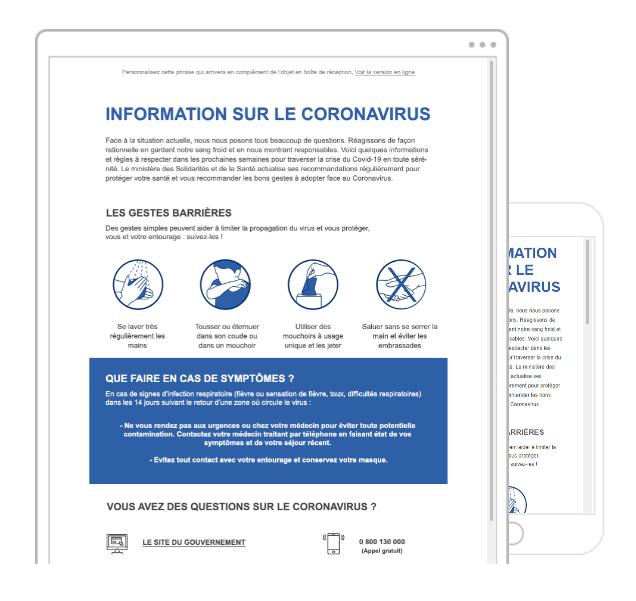 template emailing coronavirus