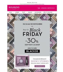Annonce Bourjois Black Friday