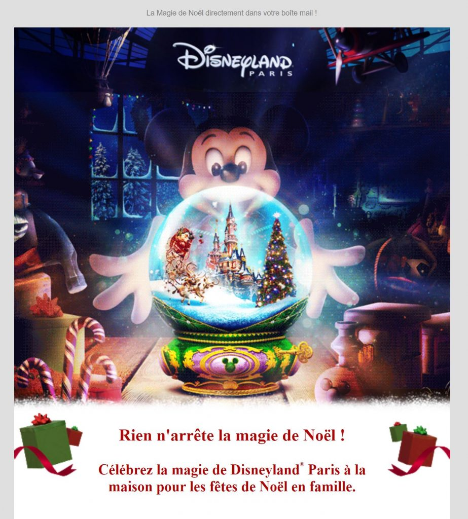 Newsletter Noël Disney