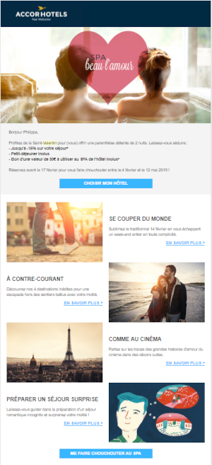 Exemple newsletter accor hotels