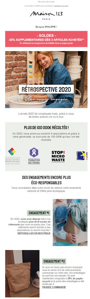 Campagne emailing Maison 123
